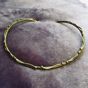 • Vintage • copper gold vine design collar